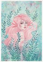 Axolotl girl by ARiA-Illustration