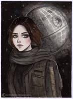 Jyn Erso [Inktober 2017] by ARiA-Illustration