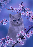 Spring kitten by ARiA-Illustration