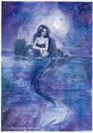 Moonlight Mermaid by ARiA-Illustration