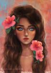 Hibiscus by ARiA-Illustration