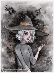 Spell- Day 4. Inktober18 by ARiA-Illustration