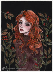 Autumn vibes- Day 14 Inktober18 by ARiA-Illustration