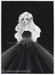 Moonchild- Day 13 Inktober18 by ARiA-Illustration