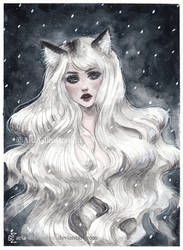Arctic Fox girl by ARiA-Illustration