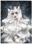 Arctic Fox girl by ARiA-Illustration