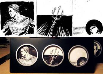 Aquaman Triptych by mysteryming