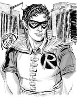Grayscale Robin by mysteryming