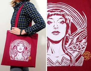 Wonder Motif Tote Bag by mysteryming