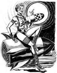 Boston Comic Con pre-commission, Tank Girl pinup by mysteryming