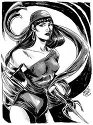 HeroesCon '12 pre-commission: Elektra by mysteryming