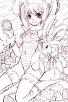 Happy Easter lineart by SpookyRuthy