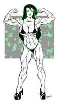 Shego Muscular by el-diablero