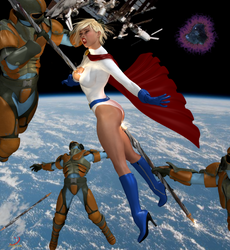 Power Girl Attacked! by ladytania