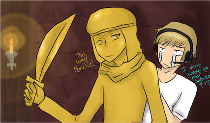 -PewDiePie and Stephano- This way Pewdie by Devilish-Mango