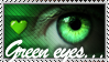 Green Eyes stamp by Emerald-Depths
