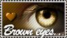 Brown Eyes stamp by Emerald-Depths