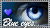 Blue Eyes Stamp by Emerald-Depths