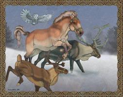 Inga and the Reindeer by sighthoundlady