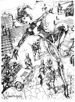 black widow by harveytsketchbook