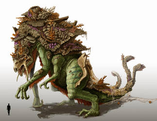 Aged Kaiju by zuboros