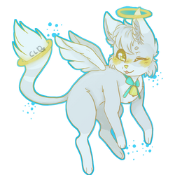 Angel Cat by CuddleyLilDemon