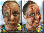 Zombie Candy Striper 01 Makeup by littlegett