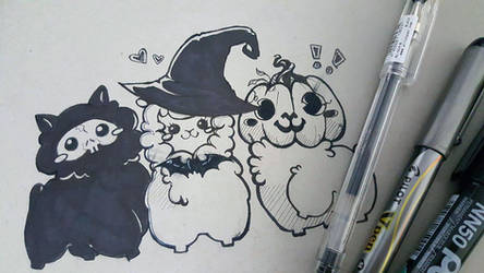 SPOOPY ALPACA'S by StringsOnABunny
