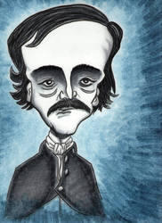 Edgar Allan Poe by tangibleboredom