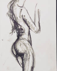 Charcoal Study 1 by nikoletteseraphine