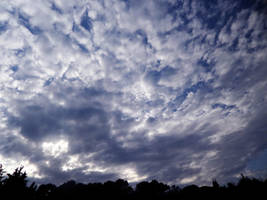 Cloudy blue sky by Altair-E-Stock