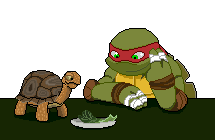 Raph and Spike by ChanceofClouds