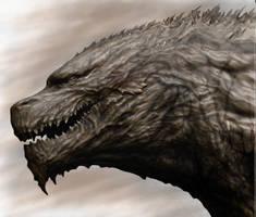 Godzilla monster planet sketch by R-MAZE
