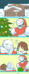 Undertale_Christmas by kuzukago