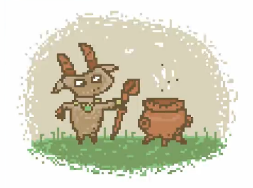 Goat broat (with a cauldron) by VanoNTP