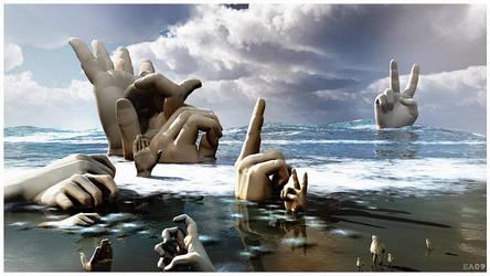 Finger beach by EhsanA