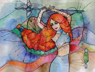 Elf Priestess by IrisArtyShock