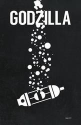Godzilla Minimalist Poster by Superconvoy75