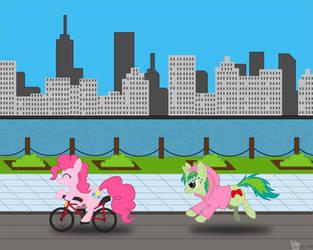 Pinkie Stole My Bike by Snowsilver