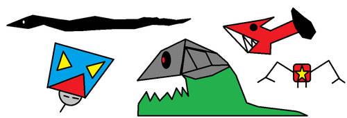 Random monsters by Awsomeguy12345