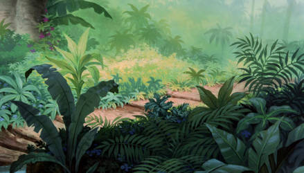Jungle-Background by Messy-Mane