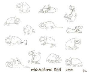 chameleons by pzla