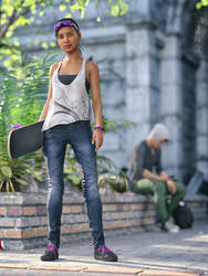 Skater Girl by SpyroRue