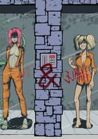 Harley And Ivy:in Arkham Asylum by Y0KO