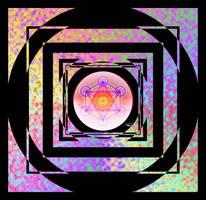 Neo-Mandala: Metatron's Cube by AJHege