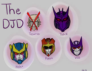 Decepticon Justice Division Head Practice by Kittylover9399