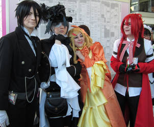 Us and Guests- Elizabeth and Grell by Dark-Raven-Butler