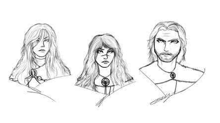 Sketches: Vivianne, Nona, Armand by Ethaeriel