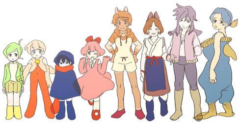 KIRBY friends by oirako