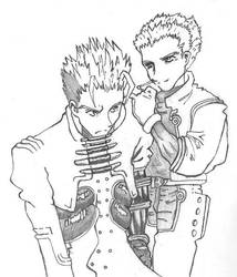 Vash and Knives by Fahji
